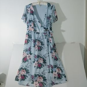 Charlotte Russe Floral Print Wrap Dress